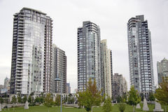 Haut-canalisations verticales à Vancouver Photo libre de droits