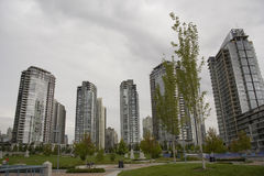 Haut-canalisations verticales à Vancouver image libre de droits