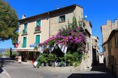 Haut de Cagnes nära trevligt i söderna av Frankrike Arkivfoto