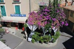 Haut de Cagnes nära trevligt i söderna av Frankrike Fotografering för Bildbyråer