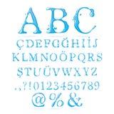 Haut de casse d'alphabet de l'eau Images libres de droits