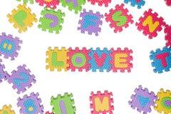 Haut de casse de lettre de puzzle de mousse Image libre de droits