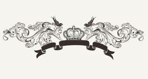 Haut drapeau fleuri royal des textes Photographie stock libre de droits