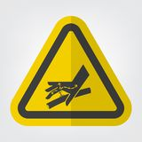 Haut-Durchbohren-Hydraulikleitung Symbol-Zeichen-Isolat auf weißem Hintergrund, Vektor-Illustration ENV 10 stock abbildung