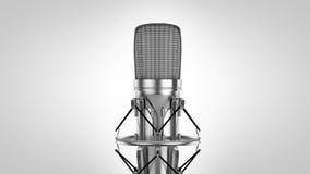 Haut haut microphone principal de la recherche 3d Photographie stock
