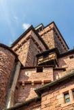 Haut-Koenigsbourg城堡塔在阿尔萨斯 库存照片