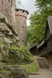 Haut-Koenigsbourg Castle at Alsace Stock Images