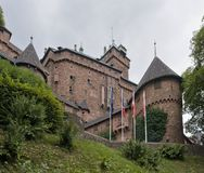 Haut-Koenigsbourg Castle in cloudy ambiance Royalty Free Stock Image