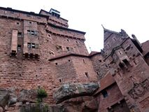 Haut Koenigsbourg castle medieval rampart Royalty Free Stock Photography