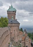 Haut-Koenigsbourg Castle in stormy ambiance Stock Photo