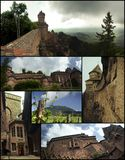 Haut-Koenigsbourg Castle views. Several views of the Haut-Koenigsbourg castle, in Alsace,France. This is a big castle that can be visited all year long. A part Stock Photography
