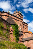 Haut-koenigsbourg - old castle in Alsace region of France Royalty Free Stock Photography