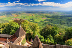 Haut-koenigsbourg - old castle in Alsace region of France. Near the city Strasbourg Stock Photos