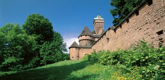 Haut-Koenisbourg castle Royalty Free Stock Images