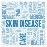 Haut-Krankheitswortwolke stock abbildung