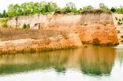 Haut monticule et réservoirs naturels Photographie stock libre de droits