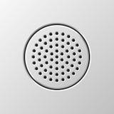 Haut-parleur audio abstrait Photo stock