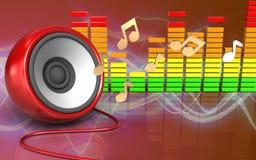 haut-parleur audio du spectre 3d Photos libres de droits