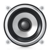 Haut-parleur audio générique d'isolement sur le fond blanc illustration 3D Photo stock