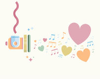 Je t'aime notes Image stock