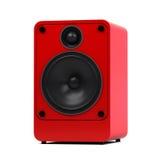 Haut-parleur audio moderne sur le fond blanc - d'isolement - image élevée de détail Photographie stock