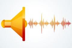 Haut-parleur avec des ondes de musique Photos libres de droits