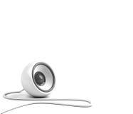 Haut-parleur blanc avec le câble Image libre de droits