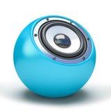 Haut-parleur bleu de sphère Photos libres de droits
