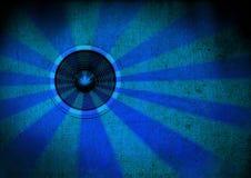 Haut-parleur bleu de starburst Images stock