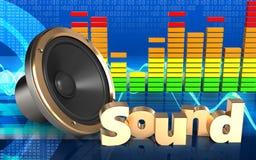 haut-parleur bruyant du spectre 3d audio Image stock
