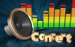 haut-parleur bruyant du spectre 3d audio Photos libres de droits