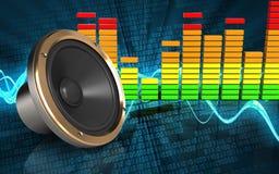 haut-parleur bruyant du spectre 3d audio Photos stock