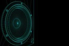 haut-parleur 3D DE HAUTE FIDÉLITÉ dans le style d'hologramme de Wireframe Rendu 3D gentil Photographie stock