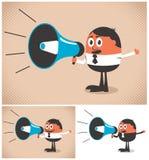 Haut-parleur de mégaphone illustration de vecteur