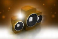 Haut-parleur de musique Image stock