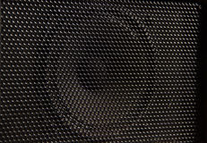 Haut-parleur de musique pour la texture noire nette Image stock