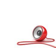 haut-parleur de rouge de câble Image libre de droits