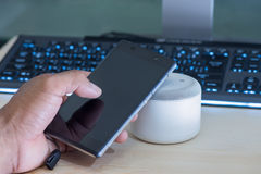 Haut-parleur de Smartphone et de NFC Image libre de droits