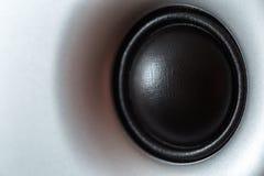 Haut-parleur dynamique ou sain de Subwoofer, fond de partie images stock