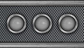 Haut-parleur en acier moderne Images stock