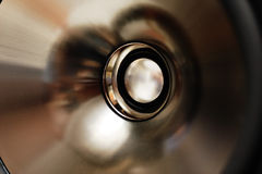 Haut-parleur en aluminium. Photos libres de droits