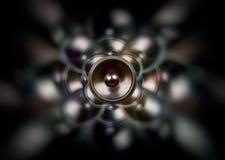 Haut-parleur gothique foncé de musique Images libres de droits