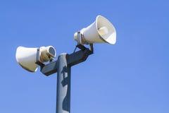 Haut-parleur l'en public Photographie stock