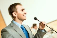 Haut-parleur masculin Photos libres de droits