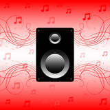 Haut-parleur, musique saine Image libre de droits