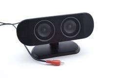 Haut-parleur noir Photographie stock libre de droits
