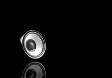 Haut-parleur noir avec la réflexion Images stock