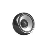 Haut-parleur noir d'isolement Image stock