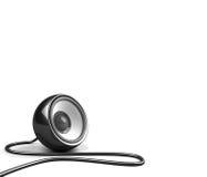 haut-parleur noir de câble Images stock