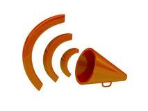 Haut-parleur orange Photos libres de droits